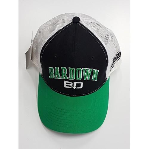 Kšiltovka BarDown černo-bílo-zelená