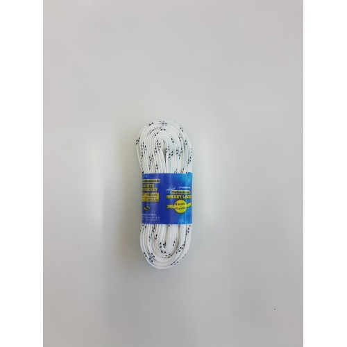 Hokejové tkaničky voskované bílé